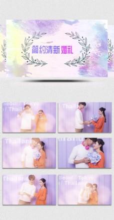 唯美清新婚礼相册Pr模板