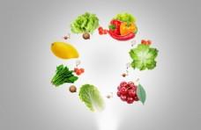 健康饮食海报背景