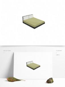手绘简约现代风床铺卡通家具