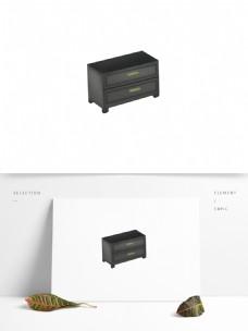 手绘简约现代风床头柜卡通家具