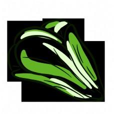 线性绿色蔬菜青菜