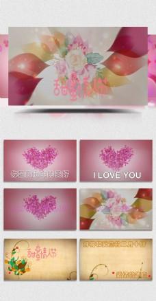 唯美粉红色的情人节会声会影模板