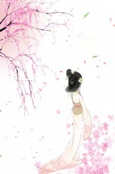 中國文化彩繪背景