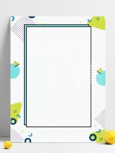 白色孟菲斯促销拼接几何背景素材