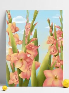 手绘花朵背景设计