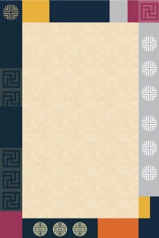 韩国经典传统图案复古素雅边框