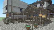 古街商业小场景