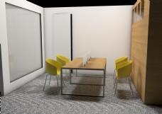 会议室改造C4D简单模型