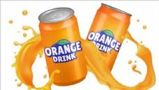 橙汁饮料罐