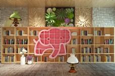 动物创意组合书架