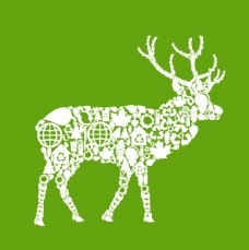 北欧复古小清新动物装饰画