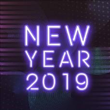 2019霓虹灯新年
