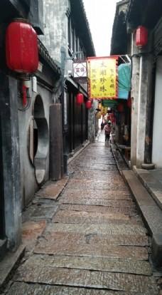 古镇深巷石板街