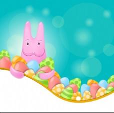 复活节兔子背景