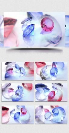 彩色宝石钻石婚庆婚礼爱情字幕背景特效视频