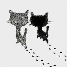 可愛小清新簡約動物卡通畫