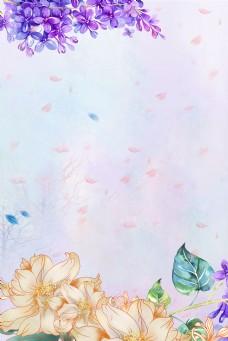 妇女节手绘花朵psd分层banner