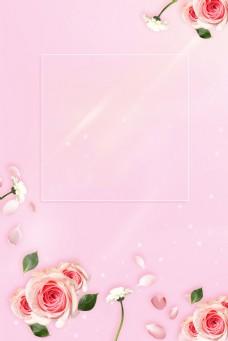 女神节温馨花朵背景图