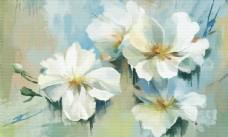 欧式油画花朵背景墙