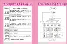 孕产妇服务内容公示   流程