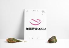 美眉美颜美颜行业LOGO原创设计