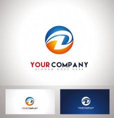 DZ字母logo