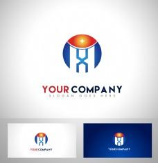 HX字母logo