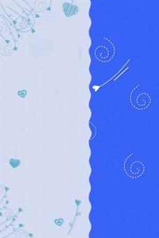 边框蓝色简约给风海报banner背景