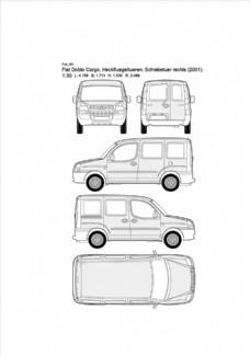 手绘汽车设计图Fiat