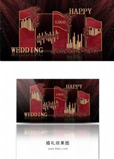 欧式红金主题现代婚礼