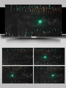 网络信息电子光点线条闪烁AE模板