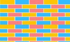 撞色方块几何背景墙壁画