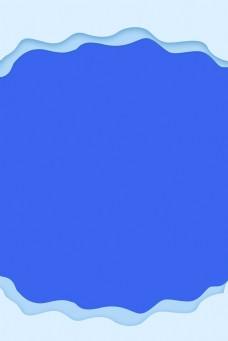 边框蓝色简约风海报banner背景