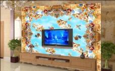 欧式花朵 花纹背景墙