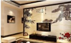 欧式古城大海海鸥壁画背景墙