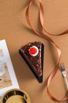 摄影图西式甜点巧克力蛋糕