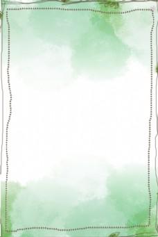 简约绿色春天卡通边框背景