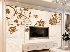 欧式花纹梦幻树瓷砖背景墙壁画