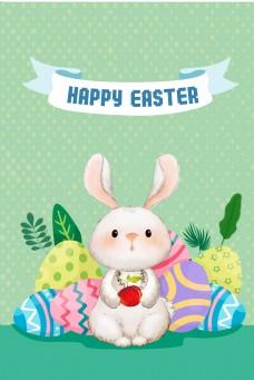 421复活节兔子海报