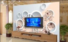 壁画电视墙