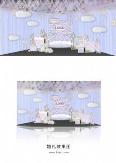 浅蓝色梦幻婚礼效果图