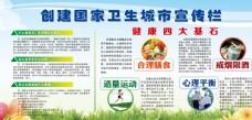 创建卫生城市宣传栏