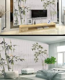 新中式竹子花鸟中国风