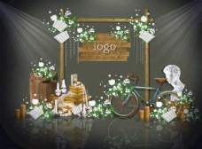 绿色森系婚礼效果图