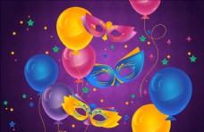 矢量面具气球