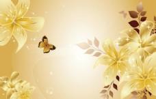 金色百合花