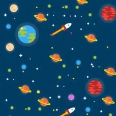 彩绘太空星球