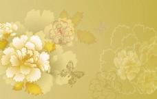 金色牡丹蝴蝶