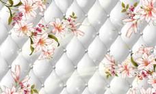 中式传统山水风景花朵富贵背景墙