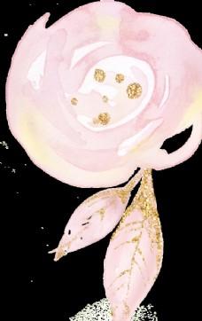 金粉效果 粉红 女性 字体 花